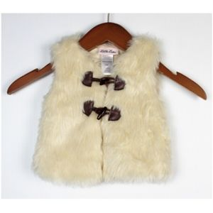 Little Lass 12M Girls Faux Fur Fuzzy Vest